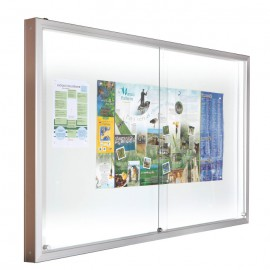 Vitrine Luxe coulissante LED
