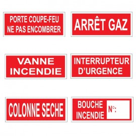 Pictogramme Incendie - Format horizontal