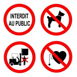Pictogramme Interdiction - Format rond